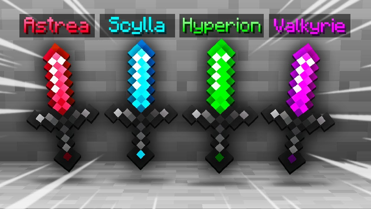I Crafted Four Overpowered Swords... (Hypixel Skyblock)