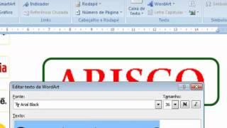 Como criar logomarcas usando o Word 2007