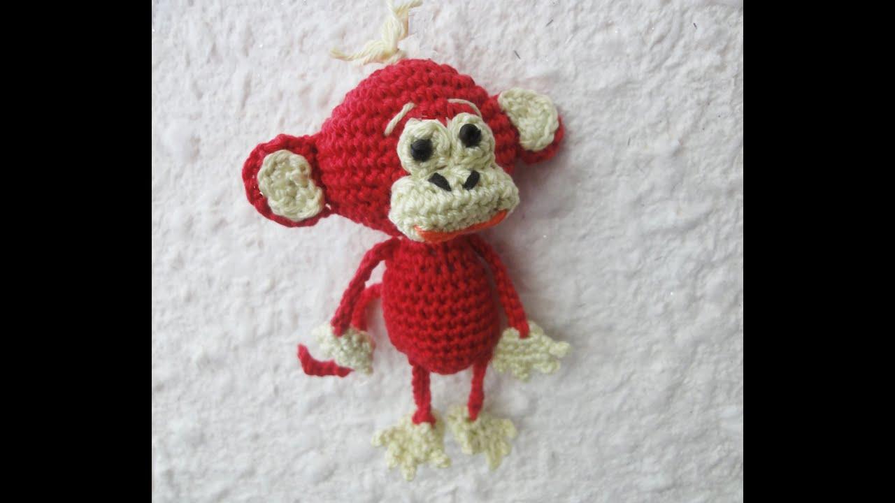 вязаная обезьянка крючком схема