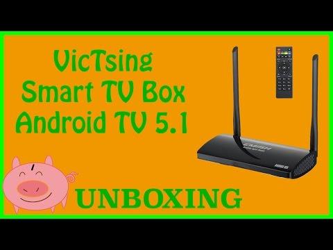 Unboxing Android 5.1 Smart TV Box 64 Bit VicTSing