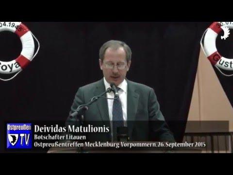 Botschafter Matulionis: 8. Mai 1945 brachte Litauen keine Freiheit, sondern Okkupation und Diktatur