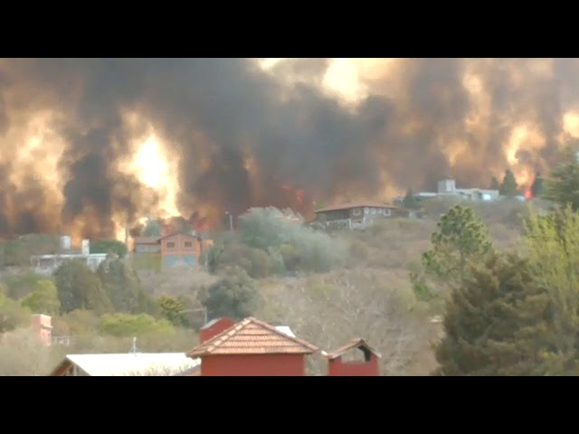 Incendios en Carlos Paz, Córdoba
