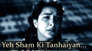 Aah - Yeh Sham Ki - Nargis - Bollywood Sad Songs - Lata Mangeshkar - Mukesh