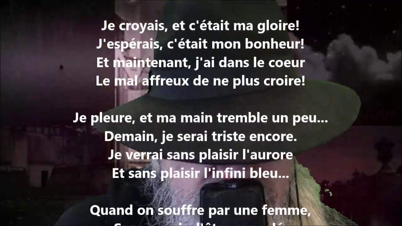 Douleur Albert Lozeau Lu Par Yvon Jean Youtube