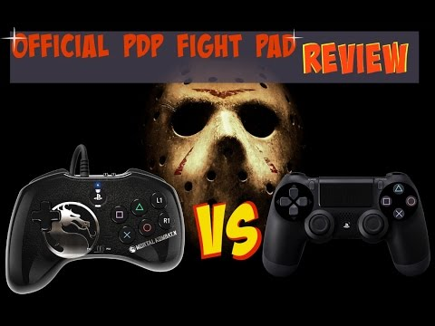 PDP MORTAL KOMBAT X FIGHT PAD Vs PLAYSTATION 4 CONTROLLER