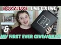 DECEMBER BOXYLUXE UNBOXING + MY FIRST GIVEAWAY!! (open) || Lizabeth Moore
