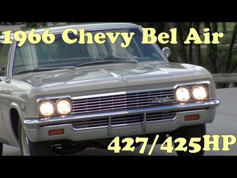 Classic Muscle Car Road Test : 1966 Chevy Bel Air 427 / 425HP HURST 4-Speed