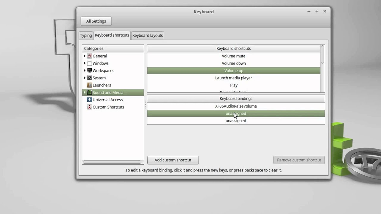 linux mint control volume level with keyboard shortcuts youtube. Black Bedroom Furniture Sets. Home Design Ideas