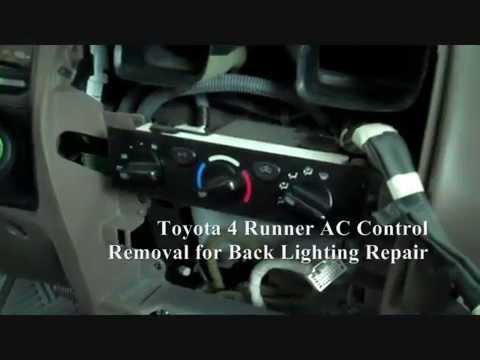 Toyota 4 Runner AC Control Panel Removal