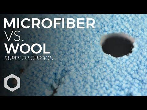 RUPES Product Series:  E7 - Microfiber vs Wool