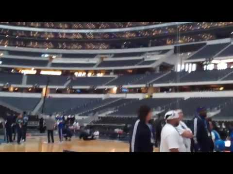 Inside Cowboys Stadium Before the 2010 NBA All-Star Game