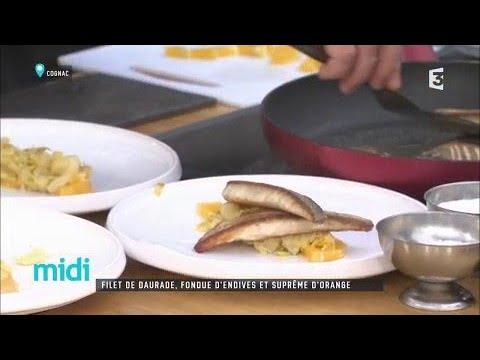 filet-de-daurade,-fondue-d'endives-et-suprême-d'orange