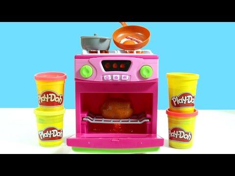 Barbie Oyuncak Mutfak Robotu ve Ocaklı Fırın   Oyun Hamuru Play Doh ile Pizza   Evcilik TV