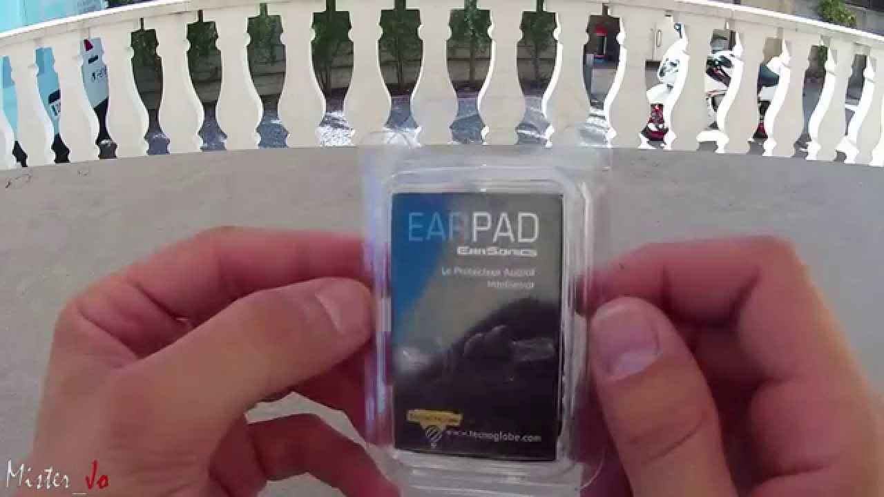 protections auditives moto earpad de earsonics youtube. Black Bedroom Furniture Sets. Home Design Ideas