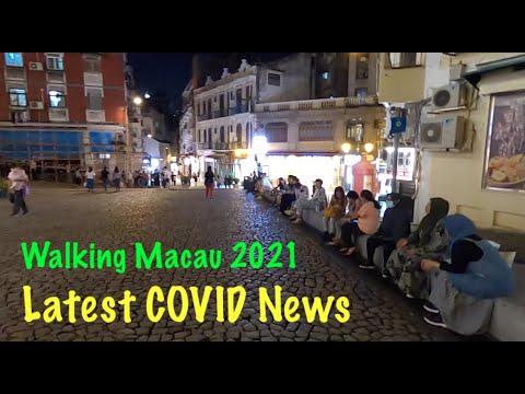 [4K] Walking Macau 2021: Latest COVID News - Sao Paulo Ruins to Senado Square