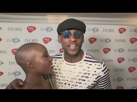 The Ivor Novello Awards:  Laura Mvula gets photobombed by Skepta!