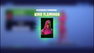 (Fortnite) buying the king flamingo skin!!!