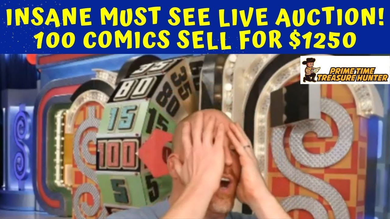 INSANE MUST SEE LIVE AUCTION BATTLE! 100 COMICS SELL FOR $1250!!!