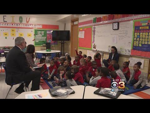 Mayor Kenney Makes Stop At Philadelphia Charter School
