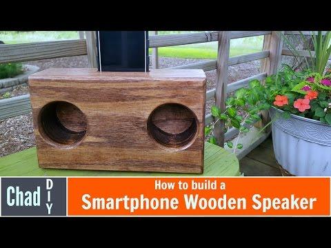 DIY wooden phone speaker