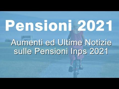 PENSIONI 2021 Ecco TUTTI gli aumenti da Gennaio 2021