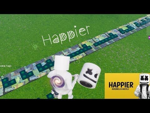 HAPPIER [MARSHMELLO] IN CREATIVE WITH MUSIC BLOCKS!! + TUTORIAL [FORTNITE]