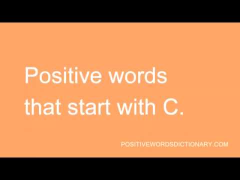 Positive words That Start with C | Positive words starting with C