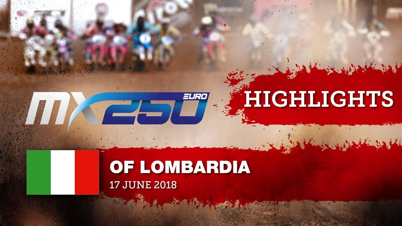 EMX250 Race1 Highlights - Round of Lombardia 2018 #motocross