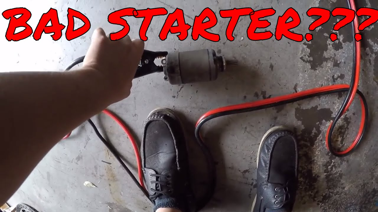bad starter motorcycle starter test youtube. Black Bedroom Furniture Sets. Home Design Ideas