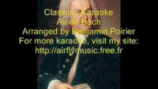 Classical Karaoke Air/ Aria G strings de bach