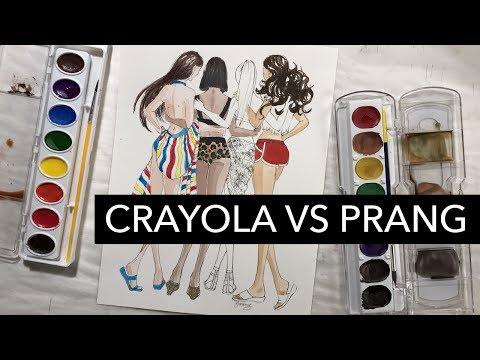 Crayola vs Prang Watercolors