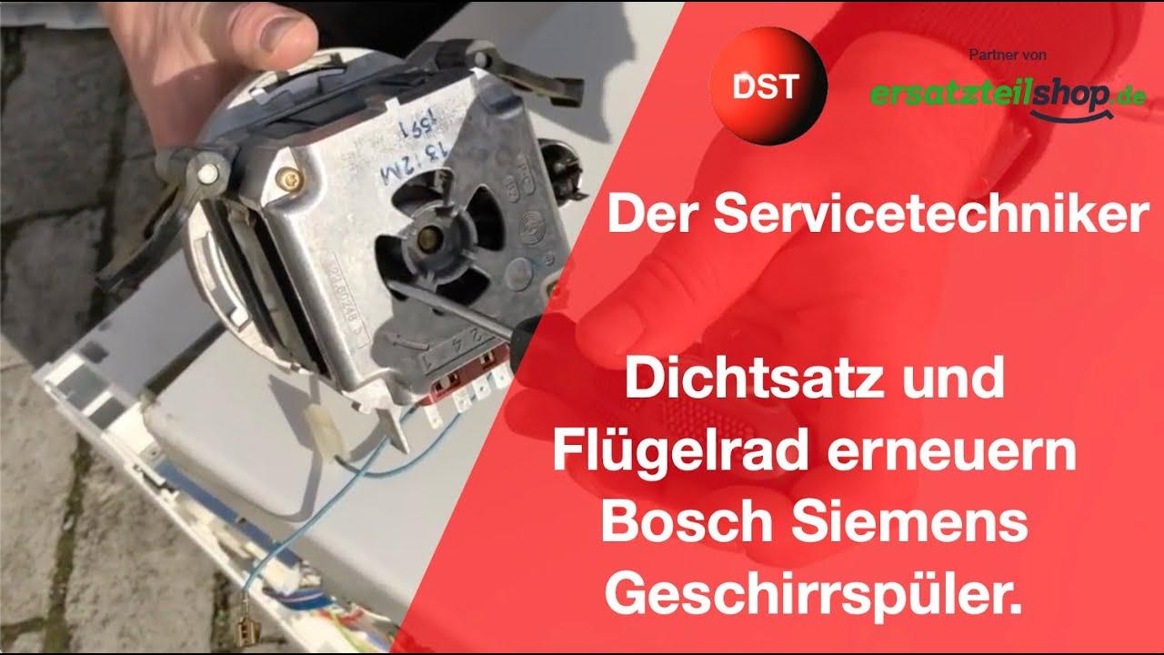 Bekannt Bosch/Siemens Spülmaschine-Dichtsatz für die Umwälzpumpe erneuern LN93
