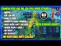 RECOMENDED! UPDATE CONFIG FIX LAG ML 60 FPS + PING HIJAU STABIL WAR ANTI PATAH-PATAH DI ML