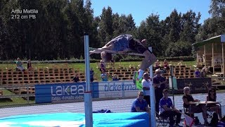 16 yrs old Arttu Mattila | high jump 2.12m PB, U17 WL |