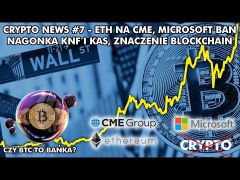 CRYPTO NEWS #7 - BTC TO BAŃKA? KNF I NAGONKA, ETH NA CME, MICROSOFT BAN, BLOCKCHAIN I INSTYTUCJE