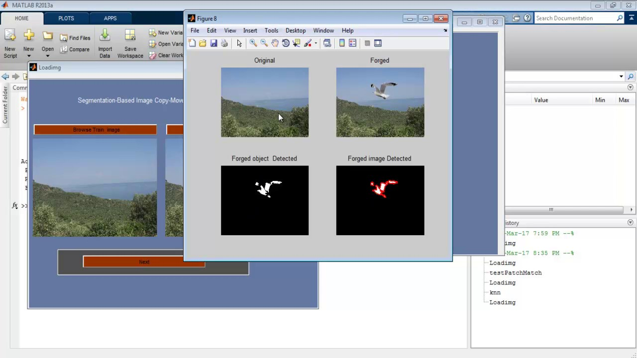 Image Forgery Detection SIFT SURF Matlab Code Projects