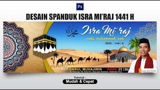 Desain Spanduk Isra Mi'raj 1441h 2020 Dengan Photoshop - Banner Design