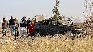 فيديو..مسلحان يفجران نفسيهما بالقرب من أنقرة