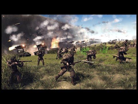 1560 ROCKETS! British & Soviet Combined Arms Fort Assault - Men of War RobZ Realism Mod Gameplay