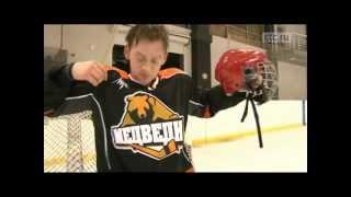 Первые тренировки по хоккею