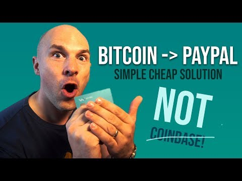 How to transfer Bitcoin to PayPal, without coinbase!