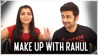 Rahul does my makeup!!  | Make-Uppies