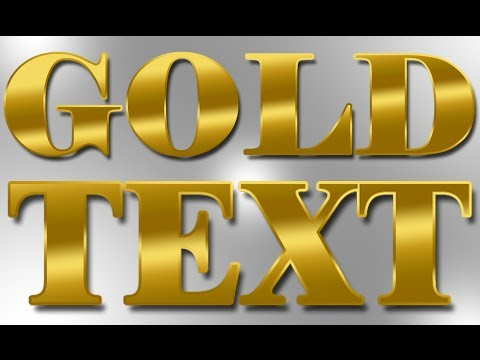 Realistic Gold Gradient - Photoshop Text Effect Tutorial HD