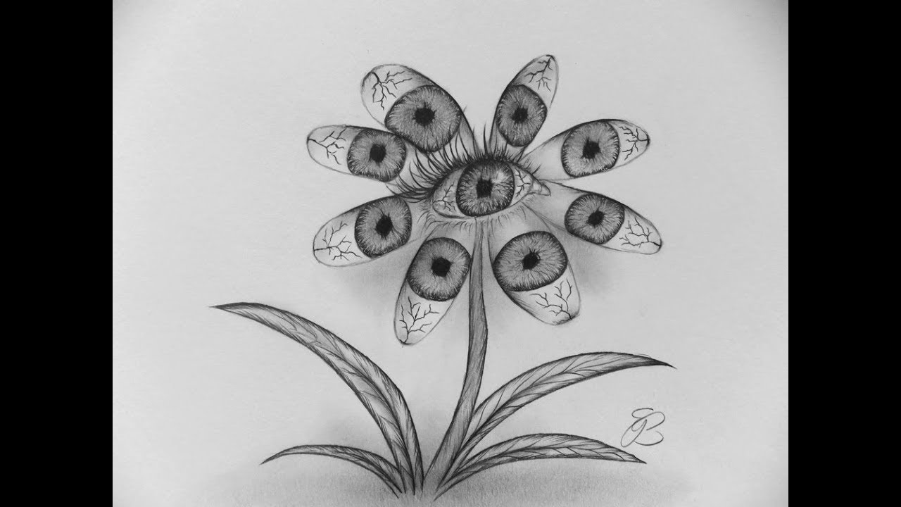 How To Draw A Flower With Eyes