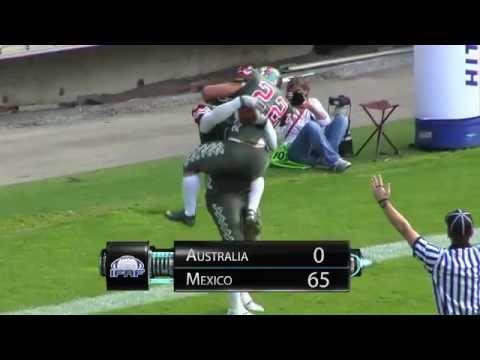 Professional American Football Mexico Australia Highlights. www.omfapro.com.mx
