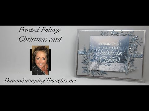 Frosted Foliage Christmas Card