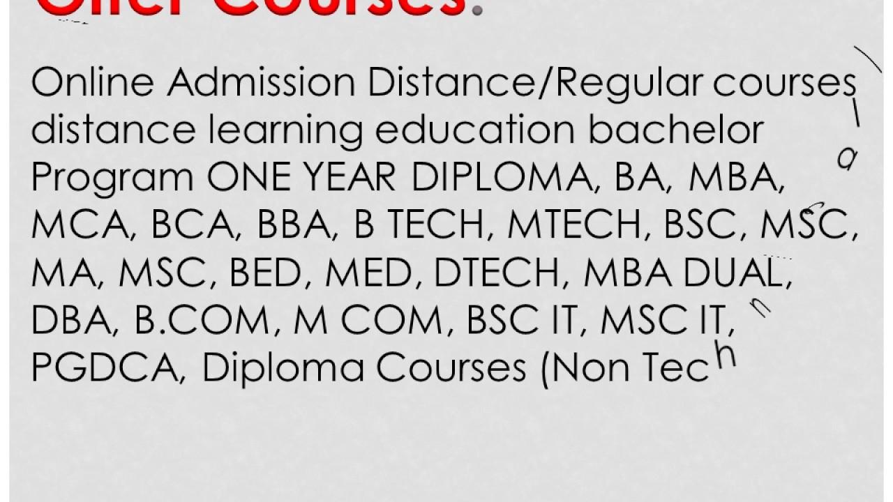 Graduation in BA BBA BCA BSC BCOM Mysore University Distance Education