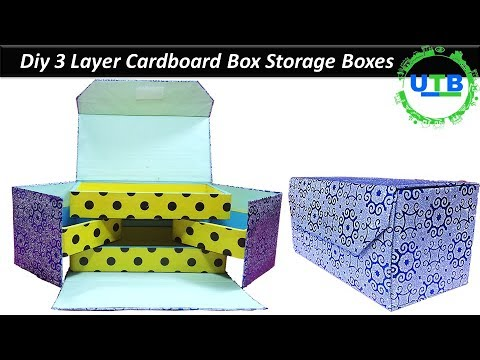 DIY DOUBLE ORGANIZER PENCIL CASE | DIY How to make Double Organizers from Cardboard |