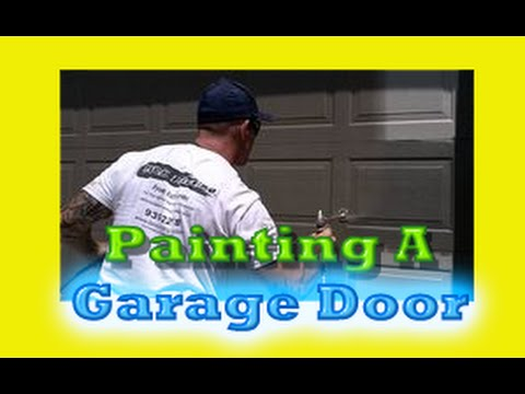 How To Prep Paint A Metal Roll Up Garage Door How To Spray A