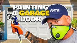 How To Prep & Paint A Metal Roll Up Garage Door. How to spray a garage door.